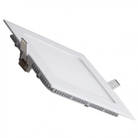 Downlight led empotrar de 18w cuadrado aro:blanco