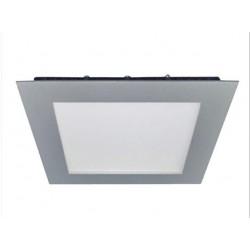 DOWNLIGHT LED EMPOTRAR de 18W CUADRADO ARO:PLATA