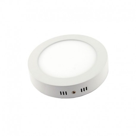 Downlight led superficie 18w redondo marco blanco