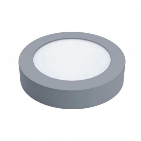 downlight superficie 18w redondo marco plata
