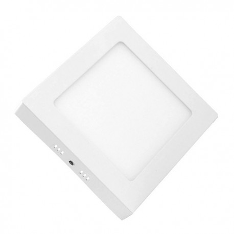 downlight led superficie 18w cuadrado marco blanco