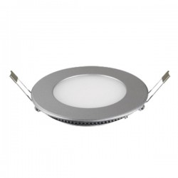 DOWNLIGHT LED EMPOTRAR de 6W REDONDO ARO:PLATA