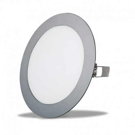 Downlight led empotrar de 18w redondo aro:plata