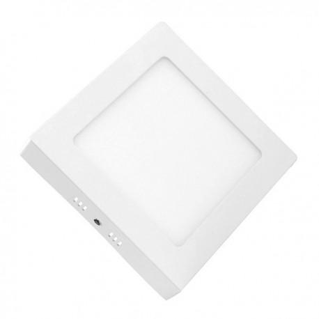 downlight led superficie 18w cuadrado marco blanco