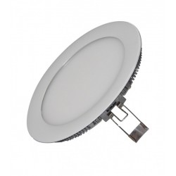 DOWNLIGHT LED EMPOTRAR de 12W REDONDO ARO:PLATA