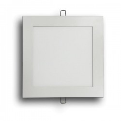 DOWNLIGHT LED EMPOTRAR de 12W CUADRADO ARO:PLATA