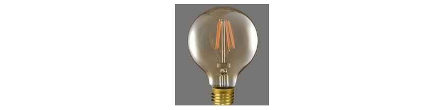 Bombilla led regulable color dorado