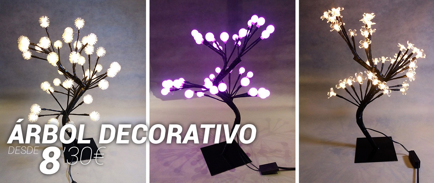 Arboles LED decorativos